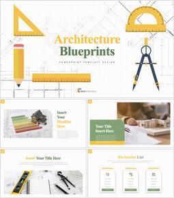 Architecture Blueprints Apple Keynote Template_00