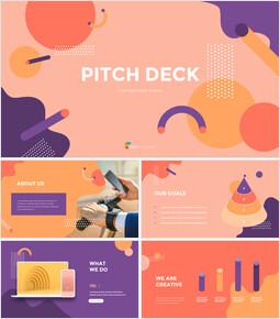 背景デザインピッチデッキ マーケティングのためのプレゼンテーションPPT_00