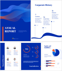 Blue Background Concept Annual Report Best PPT Templates_00
