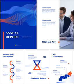 Blue Background Concept Annual Report Simple Google Templates_00