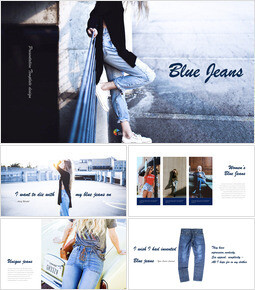 Blue Jeans Simple Keynote Template_00
