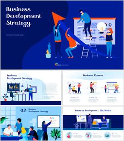 Strategia di sviluppo aziendale Far scorrere PPT_40 slides