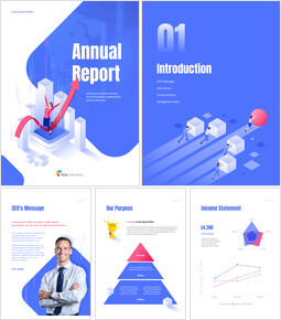 Business Illustration Annual Report Best PowerPoint Presentations_00