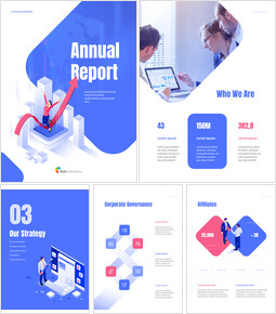 Business Illustration Annual Report Google Slides Themes & Templates_00