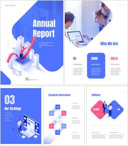 사업 삽화 연례 보고서 Google 슬라이드 테마 & 템플릿_00