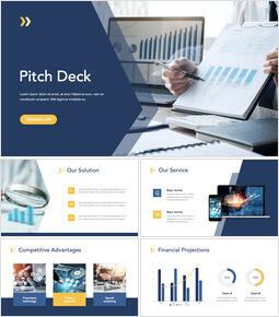 Diapositive del mazzo business pitch Modello Keynote Presentazione multiuso_00