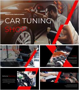 Car Tuning Shop Simple Google Slides Templates_00