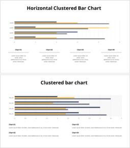 クラスター横棒グラフとテキスト_20 slides