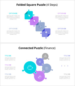 Connected Puzzle List Diagram Animated PowerPoint Templates_00