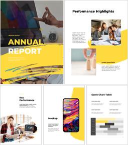 디자인 그룹의 연례 보고서 레이아웃 심플한 구글 템플릿_00
