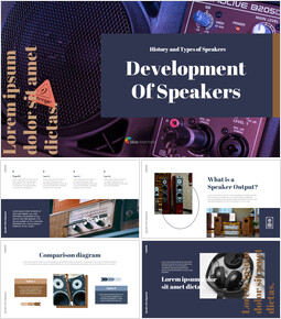 Development of speakers Google Presentation Templates_40 slides