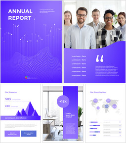 Dynamic Background Annual Report Best PPT Slides_00