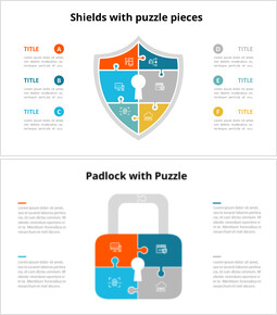 E-Commerce and Cyber Security Puzzle Infographic Animation Diagram_18 slides