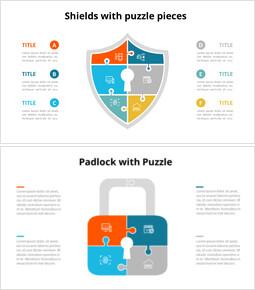 Diagramma di animazione infografica puzzle e-commerce e sicurezza informatica_18 slides