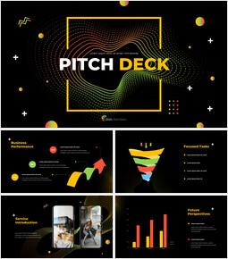 Design elettronico del mazzo del passo del modello Business PPT_13 slides