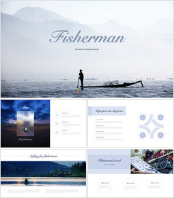 Fisherman Theme Keynote Design_40 slides