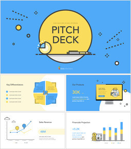 Flat Design Layout Pitch Deck Keynote PowerPoint_00