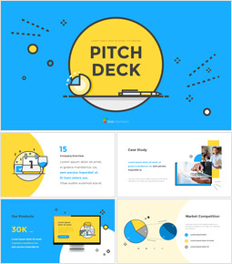 Pitch Deck con layout piatto Modelli di PowerPoint Premium_00