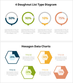 Four Steps Progress Donut Chart Animation Templates_14 slides