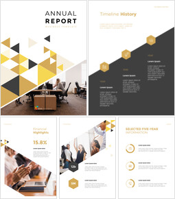 Geometric Shapes Annual Report Design Google Slides to PowerPoint_00