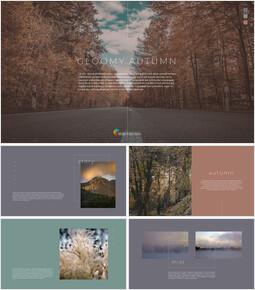 Gloomy Autumn PowerPoint Design Download_00