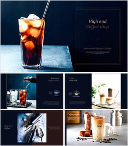 고급 커피 숍 심플한 프레젠테이션 Google 슬라이드 템플릿_00