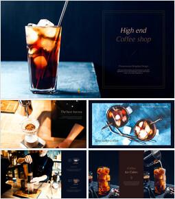 고급 커피 숍 테마 파워포인트_00