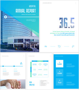 Hospital Business Annual Report PPT Background Images_00