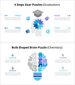 Animazione del diagramma infografico di puzzle di idea e conoscenza_14 slides
