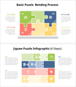 Jigsaw Puzzle Infographic Diagram Animation Templates_14 slides