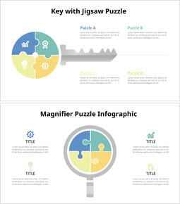 PPT animato diagramma infografico chiave e matita puzzle_8 slides