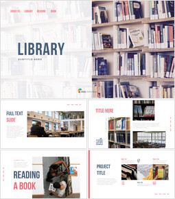 Library PowerPoint Templates for Presentation_00