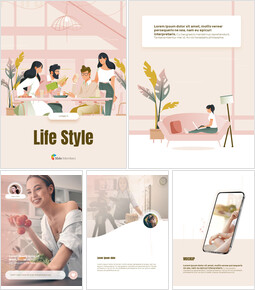 Life Style Vertical Design Easy Slides Design_00