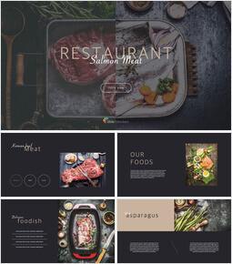 Meat & Salmon Restaurant Keynote PowerPoint_00