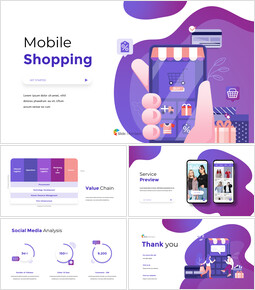 Mobile Shopping Service premium PowerPoint Templates_00