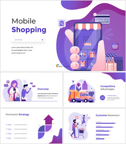 Mobile Shopping Service Simple Slides Templates_00
