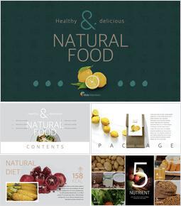 Natural food Theme Keynote Design_00