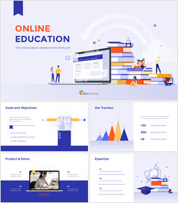 Online Education Pitch deck Design Creative Google Slides_00