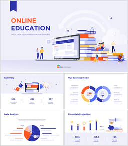 Online Education Pitch deck Design Presentation Templates Design_00