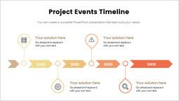 프로젝트 이벤트 타임 라인 간단한 슬라이드_00