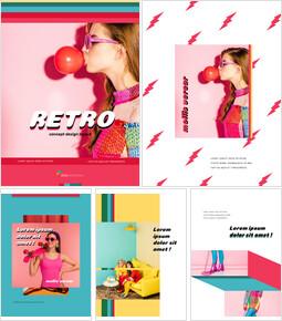 레트로 스타일 컨셉 디자인 창의적인 구글슬라이드_00
