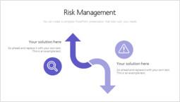 위험 관리 Silde Deck 템플릿 슬라이드_00