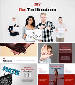 Say No to Racism Simple PowerPoint Template Design_40 slides