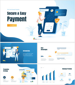 Secure & Easy Payment Animation Template PPT Background_00