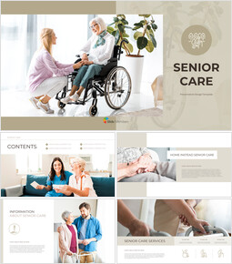 Senior Care Business PowerPoint Templates_00