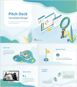 Simple Wave Background Pitch Deck Google Slides Template Diagrams Design_00