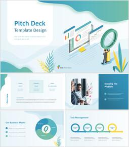 Pitch Deck Sfondo Onda Semplice Formato PowerPoint_00