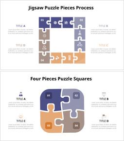 Animazione del diagramma di puzzle quadrato_10 slides
