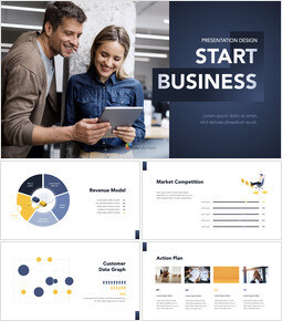 Start Business Presentation Design Keynote mac_00