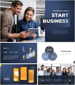 Start Business Presentation Design PPT Templates Simple Design_00